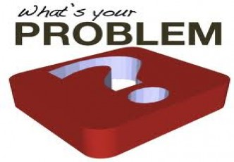 Problem, trouble and issue
